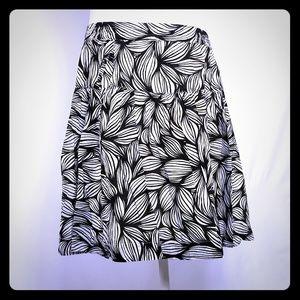 Tommy Hilfiger Botanical Leaf Skirt w Pockets Larg